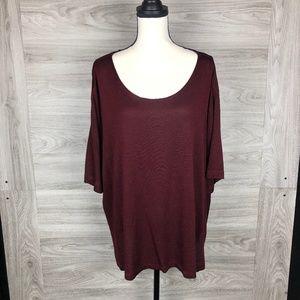 Vikki Vi Burgundy Shirt Size 3X